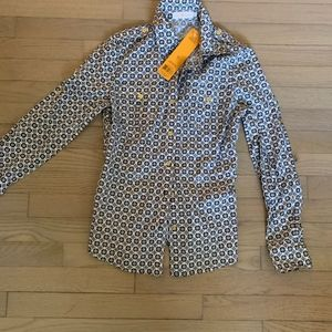 Tory Burch Tops - NWT Tory Burch button down print blouse - size 2